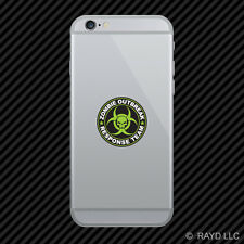 Green Zombie Outbreak Response Team Cell Phone Sticker Mobile Die Cut hunting us