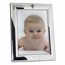 Personalised Silver Photo Frame - Christening Gift Idea ~ FREE DELIVERY