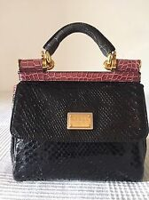 DOLCE GABBANA MISS SICILY ALLIGATOR/ SNAKE SKIN MINI BAG. Limited Edition, USED