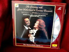 AN EVENING WITH JOAN SUTHERLAND~LUCIANO PAVAROTTI~ SEALED ~ LASER DISC