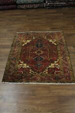 S Antique Handmade Foyer Goravan Heriz Persian Rug Oriental Area Carpet 4'8X5'7