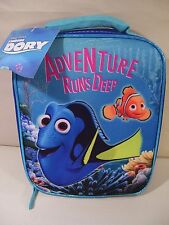 NEW DISNEY FINDING DORY ADVENTURE RUNS DEEP CANVAS LUNCH BOX, BAG NEMO DORY