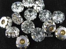 SS35 100pcs Clear Silver Vintage Sparkle Crystal Rhinestone Loose beads