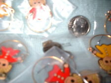 CHARM HOLDERS WITH BAIL READY TO PUT ON A CHAIN AND ADD CHARMS LOT OF 6