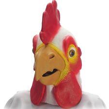 Masque de coq ou de poule souple en latex accessoires de deguisement oiseau fete