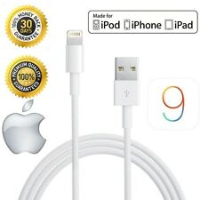Blanco 1m Cable Lightning a USB Cargador de Sincronización para iPhone 5 5S 5C 6 iPod iPad Mini