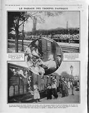 Train d'Artillerie Gare de Champigny Tirailleurs Algériens Mobilisation 1914 WWI