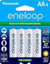 4x Batteries Panasonic Eneloop AA NiMH Rechargeable Battery HR6 2100 Cycle