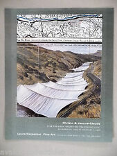 Christo & Jeanne Claude Art Gallery Exhibit PRINT AD - 1995 ~~ Over The River