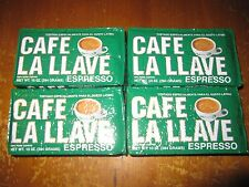 Cafe La Llave 10 oz Cuban Coffee Grounds Authentic Cafe Cubano 4 packs