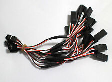 """10 PCS 3 Pin 2Male to 1Female RC Servo Y Extension Lead Wire 6.7"""" 17CM"""