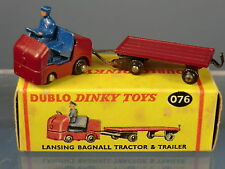 DINKY DUBLO MODEL  No.076 LANSING BAGNALL TRACTOR & TRAILER    MIB