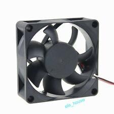 DC 12V 3Pin 70mm 70x70x25mm Brushless Computer Cooler Cooling Fan Sleeve Bearing