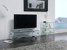 CT-220 Dupen Design TV Tisch Board Rollen Glas Fernsehtisch Lowboard Hifi Media