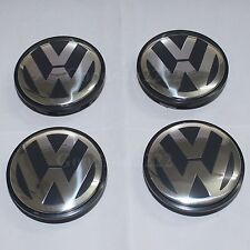 4x 65MM Car Wheel Center Rim Hub Emblem Caps Cover For VW Golf GTI