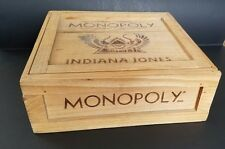 Vintage Indiana Jones Monopoly Game in Wood Crate Incomplete