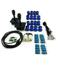 Kit Joystick Arcade 2 joueur  Poire  Boutons Americains Creux Bleu Mame USB