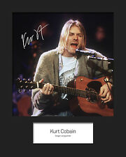 KURT COBAIN #3 10x8 SIGNED Mounted Photo Print - FREE DELIVERY