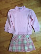 E. Land Boutique Girls Sz. 4 Wool Blend Plaid Pleat Skirt LN!  Free Chez Ami Top