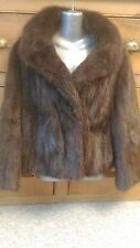 new design vintage 100% real dami buff brown mink fur coat