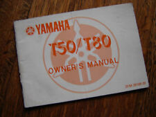 YAMAHA T50 / T80  1986 OWNERS MANUAL / BOOKLET / HANDBOOK