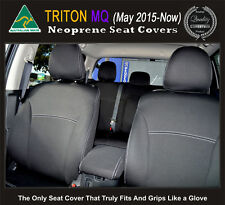 Seat Cover Mitsubishi MQ Triton Neoprene FRONT Full-back Map pockets & REAR