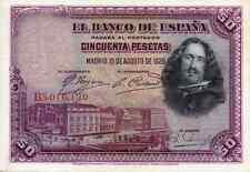 @@@ ESPAÑA 50 PESETAS 1928 VELAZQUEZ. EN OFERTA DE PROMOCIÓN. BELLÍSIMO. VER.