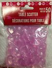 Valentine's Day 50 PINK Acrylic Hearts Scatter Table Vase Decoration Wedding New