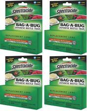 4 Pack SPECTRACIDE JAPANESE BEETLE TRAP BAG A BUG REPLACEMENT LURE BAIT 6541692