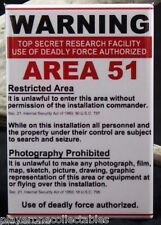 Area 51 Warning Sign 2 X 3 Fridge / Locker Magnet. UFO Aliens Roswell Conspiracy