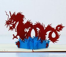 3D Pop up Greeting Cards, Dragon Pop up Cards, Free Shipping!