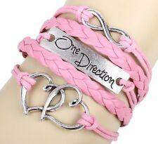 NEW DIY Style Jewelry fashion Leather Cute Infinity Charm Bracelet Silver SL203B