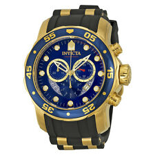 Invicta Ocean Master Chronograph Blue Dial Black Rubber Mens Watch  6983