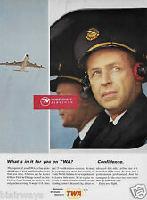 "TWA ""WHAT'S IN IT FOR YOU ON TWA? CONFIDENCE MILLION MILE CAPTAIN & 707 AD"
