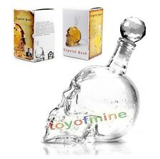 1X Glass Bottle Crystal Head Skull Liquor Beer Vodka Whisky Jar Decanter New