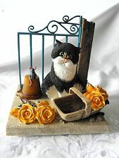 BORDER FINE ARTS~ COMIC & CURIOUS CATS ~ LINDA JANE SMITH ~ BEES & ROSES ~ A4958