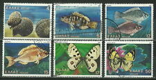 GREECE 1981 '' BUTTERFLIES,SHELLS & FISHES '' SET USED (113)