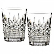 NEW Waterford Crystal LISMORE Set of FOUR (4) Double Old Fashioned DOF Glasses