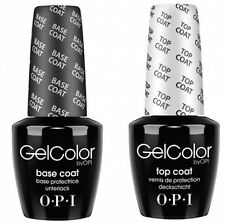 OPI GelColor Soak Off Gel Nail Polish Base & Top Coat Set 15ml/0.5oz