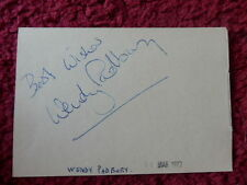 DOCTOR WHO COMPANION WENDY PADBURY AUTOGRAPH