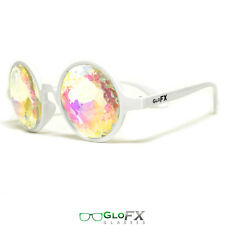 Insane Trippy Lady Gaga style fashion crystal glasses faceted festival music EDM