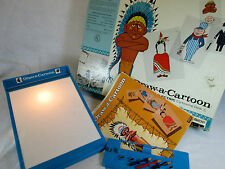 Vintage 1961 Draw-A-Cartoon electric lighted drawing art set by Lakeside