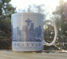 Seattle Starbucks Coffee Company Hometown 18oz Mug 2006 Blue Skyline Spaceneedle