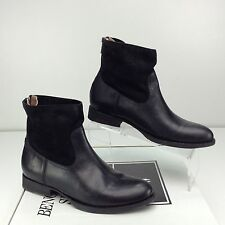 Frye Jamie Zip Bootie black smooth vintage Leather boots size 9.5 M Ankle