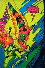 CAPTAIN MARVEL AND SUBMARINER MARVEL THIRD EYE Black light poster Gene COLAN