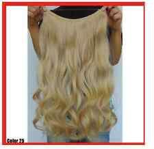GOLDEN BLONDE #25  HALO STYLE WIRE HAIR EXTENSIONS 20""