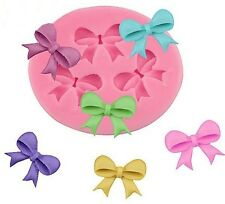 Bows 3 Cavity Mini  Silicone Mold for Fondant, Gum Paste, Candy  NEW