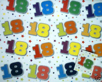 2 sheets 18th birthday gift wrap + tag wrapping paper