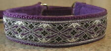 PURPLE SILVER MARTINGALE COLLAR  LEAD ITALIAN GREYHOUND MALTESE CHIHUAHUA