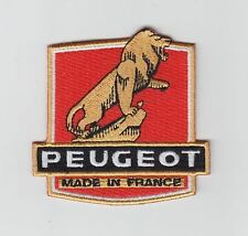 New Peugeot bicycle embroidered patch, vintage design.